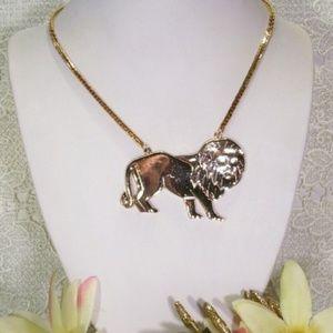 R-1448 SHINY Golden Lion Necklace
